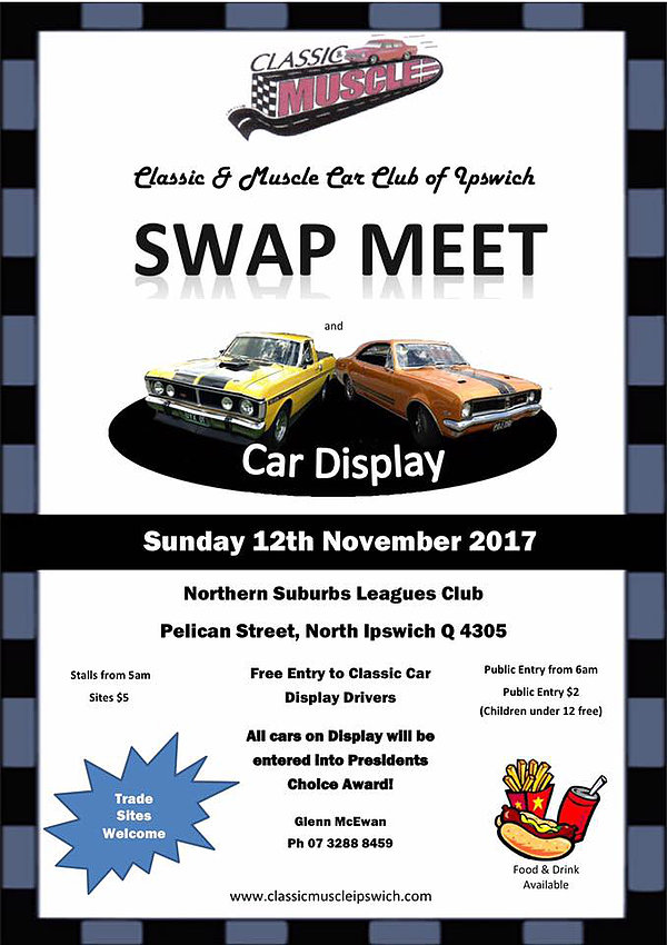classic & muscle car club of Ipswich swap meet and car display