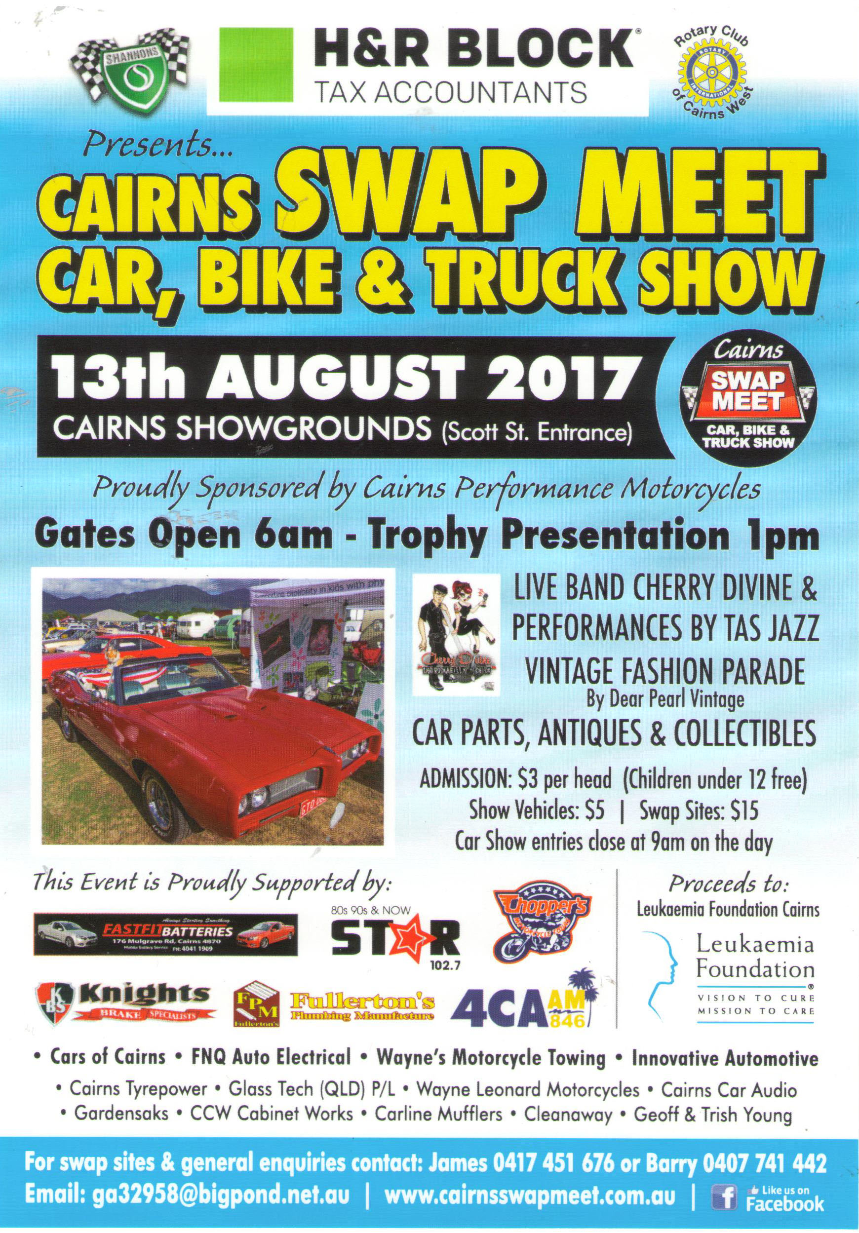 Cairns Swap Meet Car Bike & Truck Show flyer