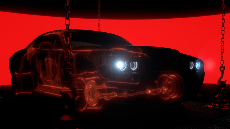 A Dodge Demon teaser render