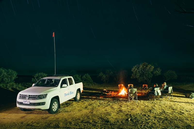 VW Amarok ute and trailer