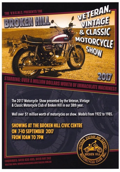 Veteran, Vintage and Classic Motorcycle Show flyer