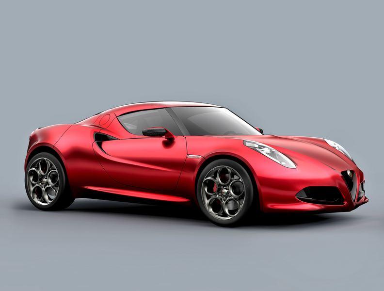 Alfa Romeo 4C Concept side angle