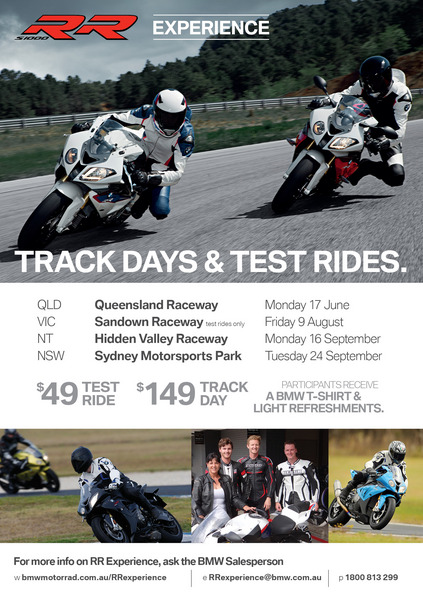 BMW RR Experience test rides and track days coming
