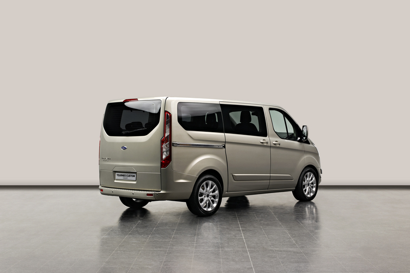 A one tonne Ford Transit concept rear angle