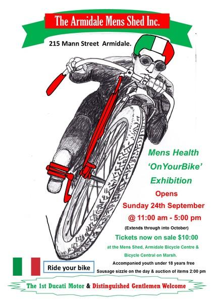 Mens Health OnYourBike Exhibition flyer