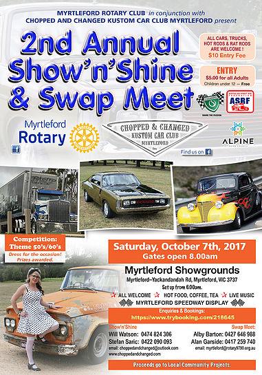 2nd Annual Show'n'Shine & Swap Meet flyer