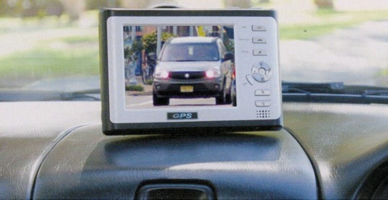 GPS and Camera systems sitting on dash