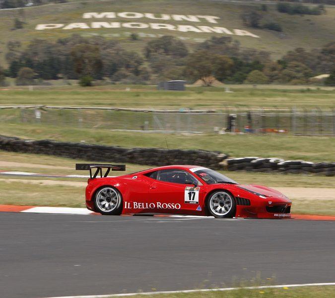 Ferrari 458 GT3 at Bathurst side angle