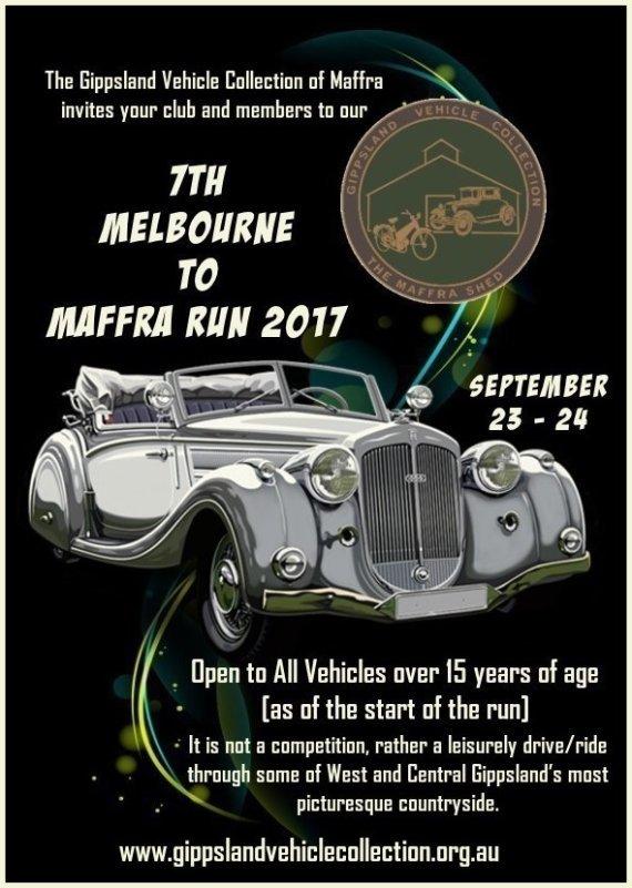 17th Melbourne to Maffra Run 2017 flyer