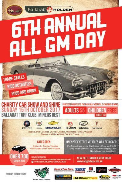 Ballarat 6th Annual All GM Day flyer