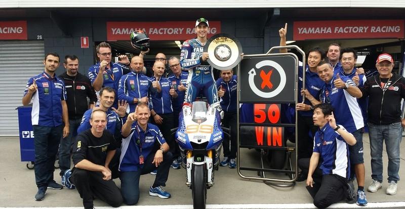 Victory milestone for Lorenzo in Australia