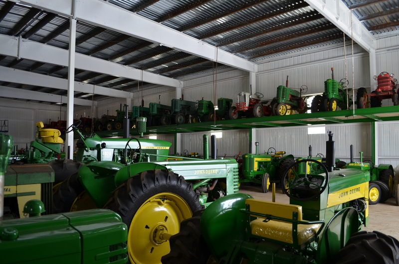 Shed of tractors