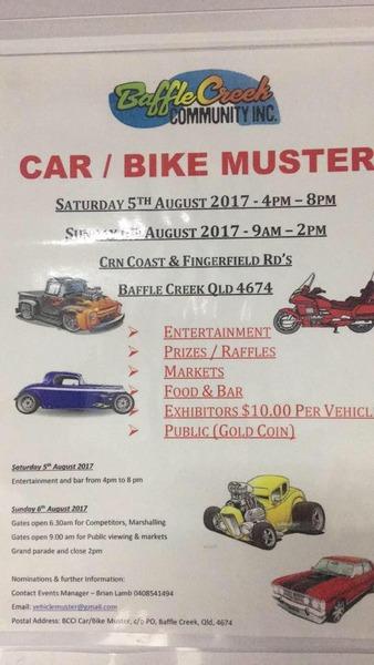 Baffle Creek Comunity Inc Car & Bike Muster flyer
