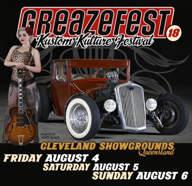 GreazeFest Kustom Kulture Festival flyer