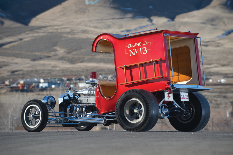 Ford Firetruck Hotrod rear angle