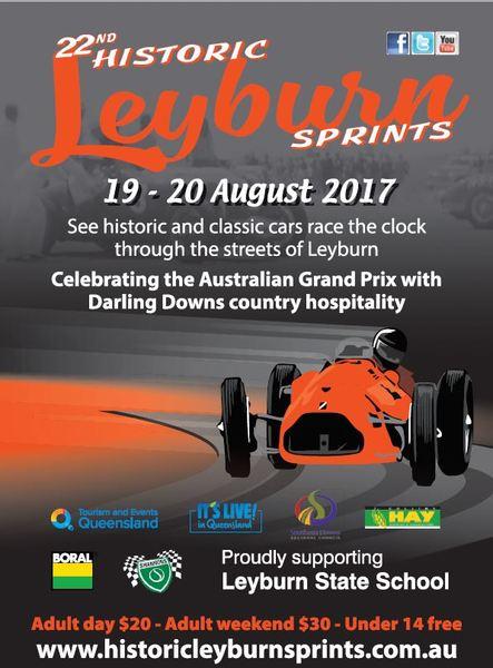 22nd Historic Leyburn Sprints flyer
