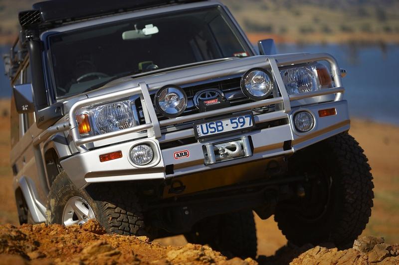 An ARB bullbar on a Toyota Hilux