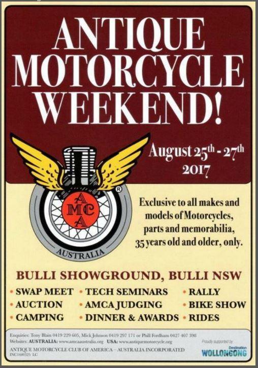 Antique Motorcycle Weekend flyer
