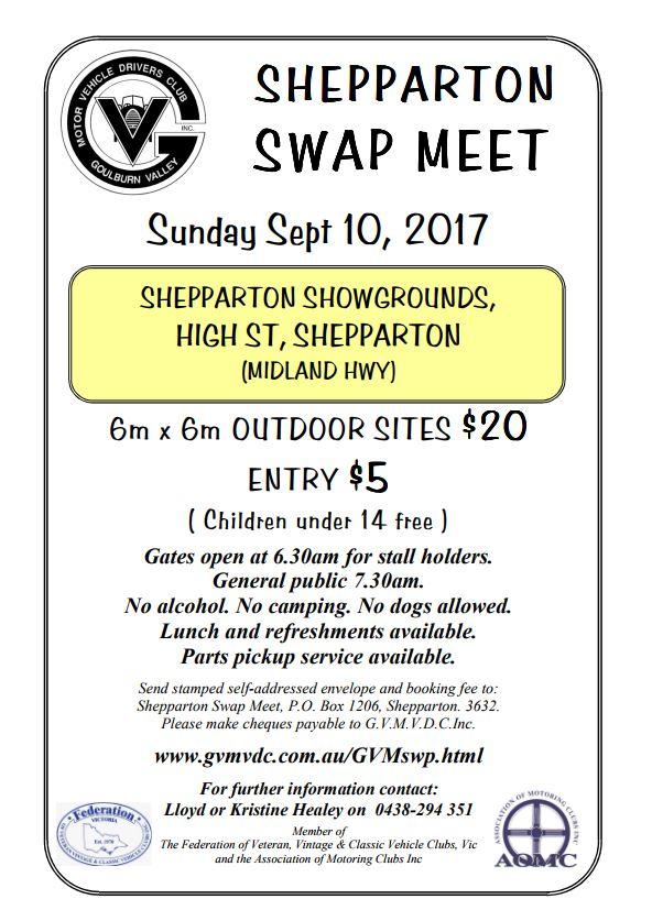 Shepparton Swap flyer