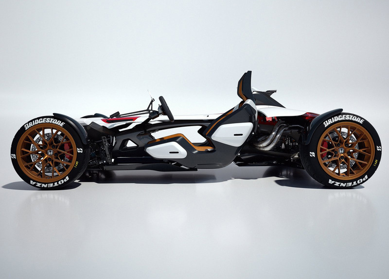 Honda create 'Project 2&4' concept side view