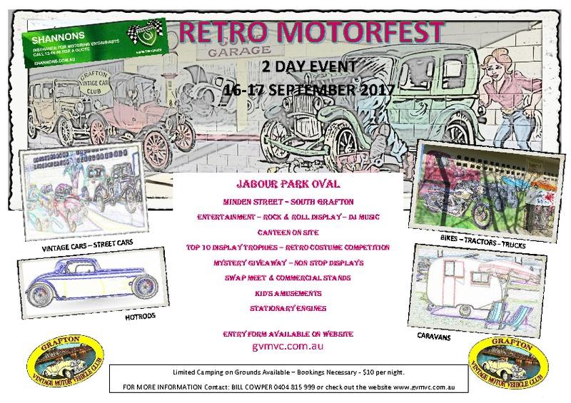 Shannon's Retro Motorfest flyer