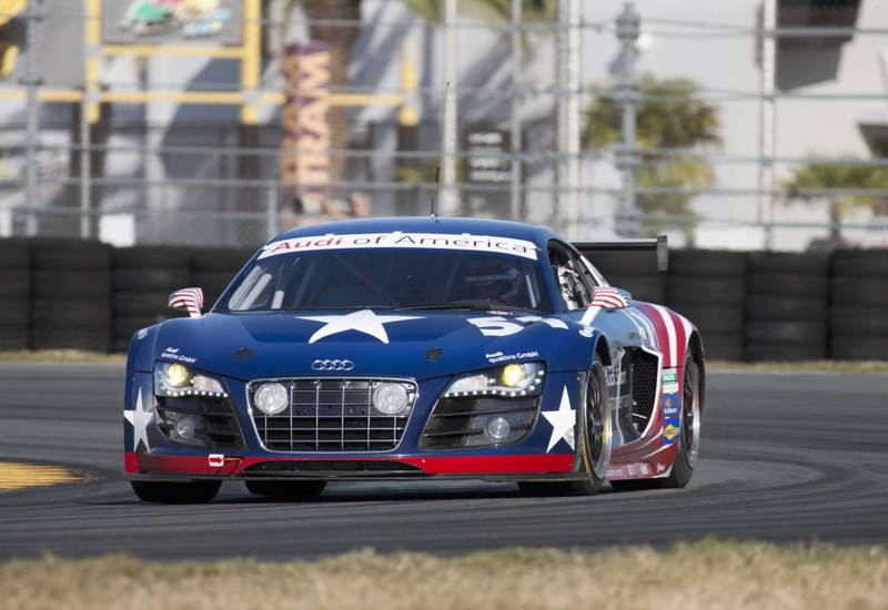 Audi R8 GRAND-AM on track