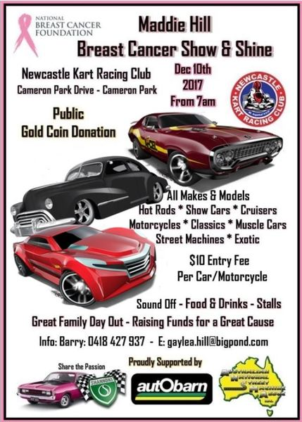 Maddie Hill Breast Cancer Show & Shine flyer