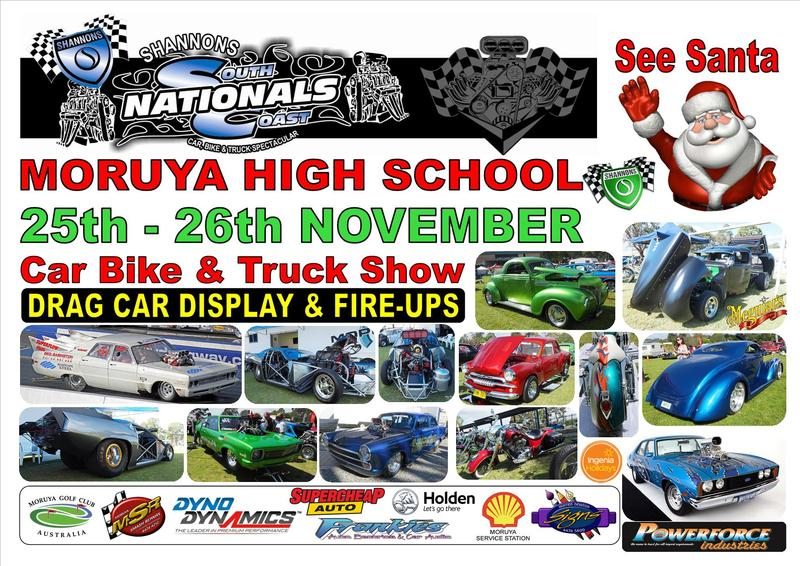 Shannon's South Coast National's Car Bike & Truck Show flyer