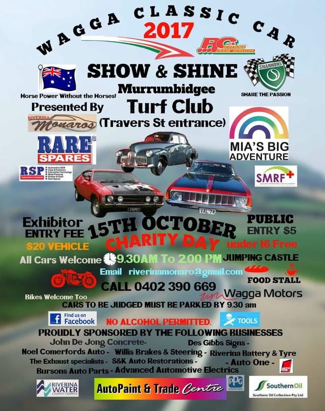 Wagga Wagga Charity Show and Shine flyer