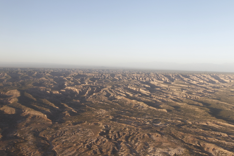 A view of the Dakar Rally from the air