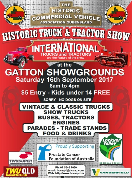 Old Truck and Tractor Show flyer