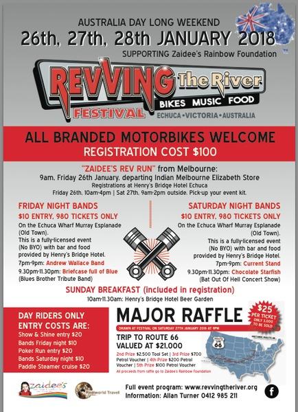 Revving The River Motorbike Festival flyer