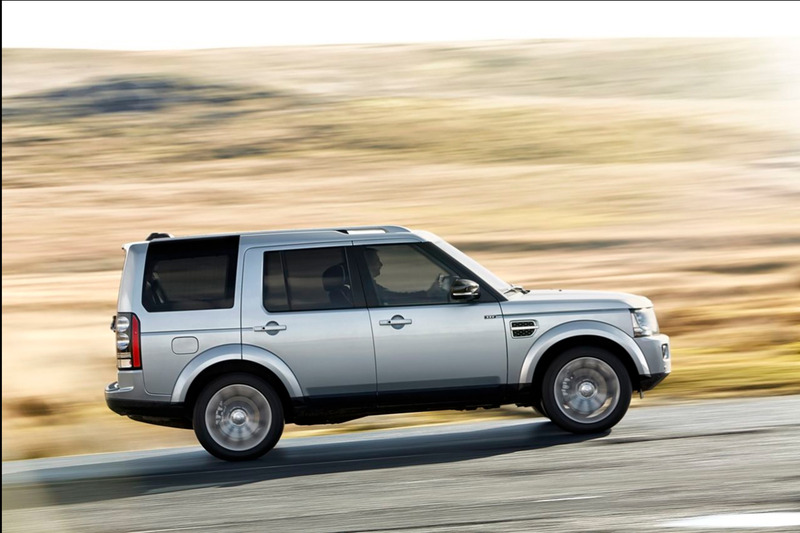 A silver Land Rover Discovery