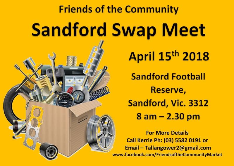 Sandford Swap Meet flyer