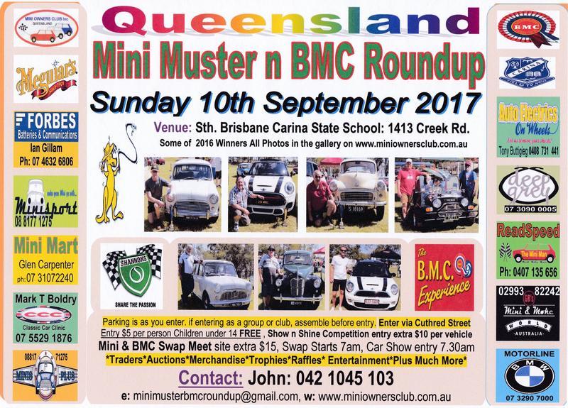 Queensland Mini Muster-n-BMC Roundup flyer