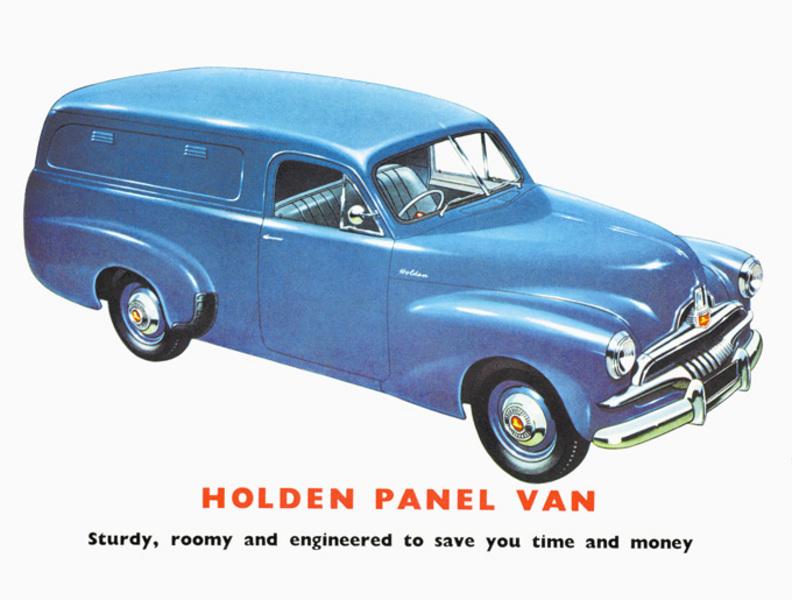 48-215 Holden van advertisement