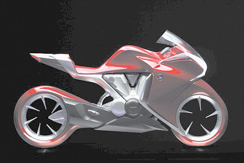 Honda V4 Concept side angle