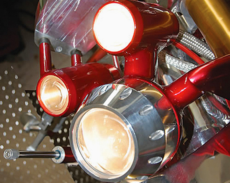 Ben Shaw's 'JUDGE' streetfighter motorcycle lights