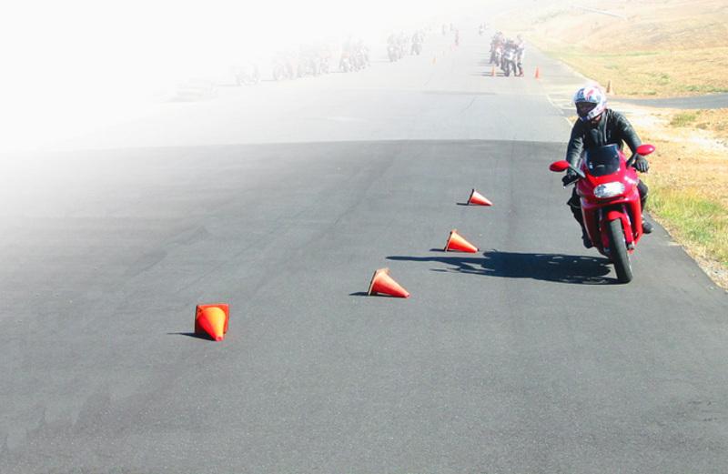 Motorcycle training cones