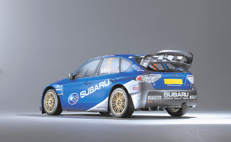 Impreza World Rally Car rear angle