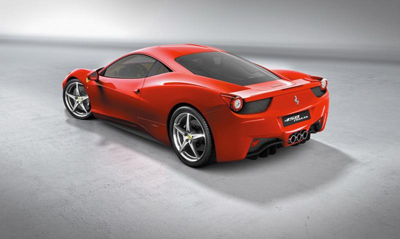 Ferrari 458 Italia rear angle