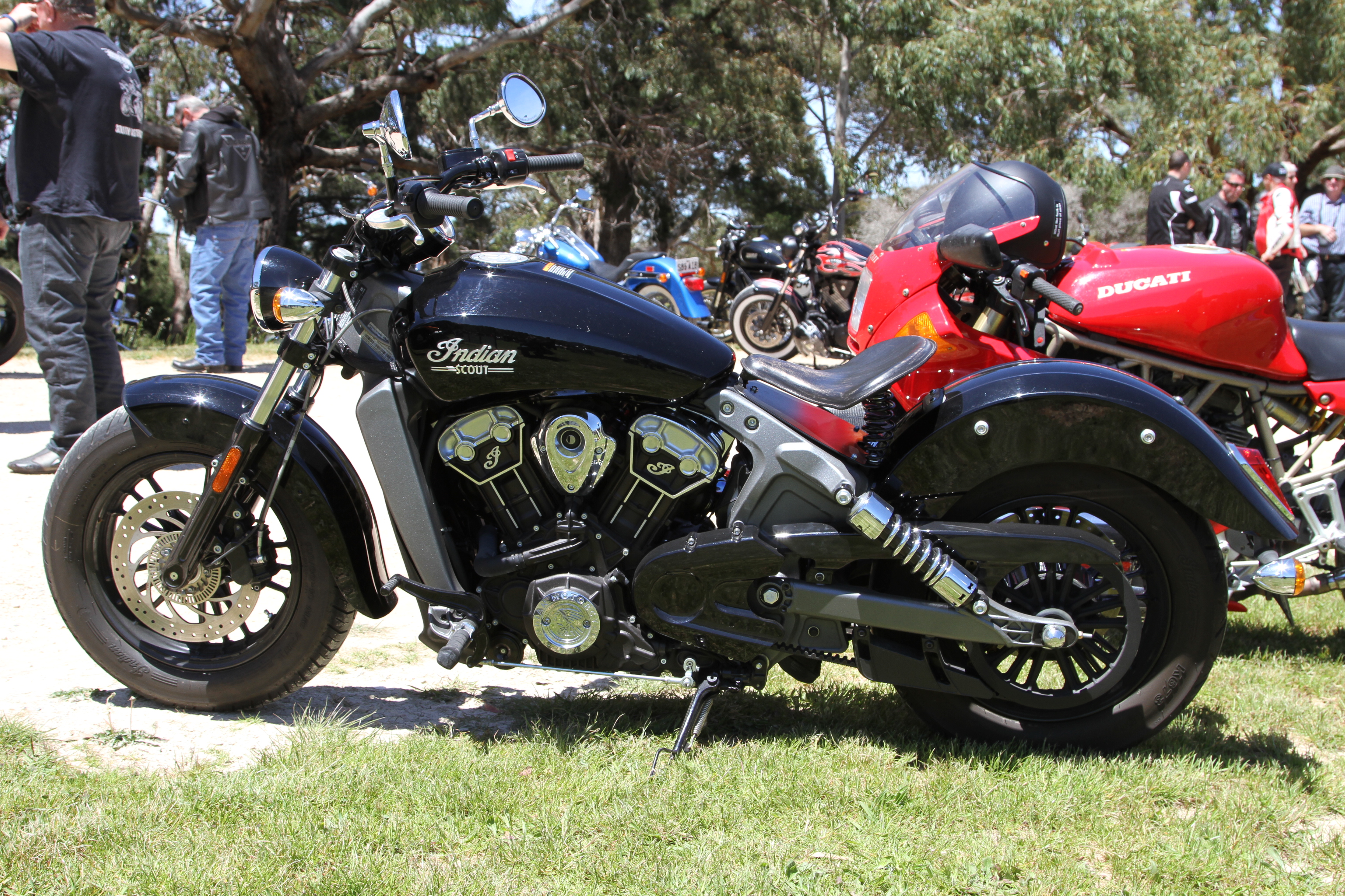 Indian Motorcycle at Event