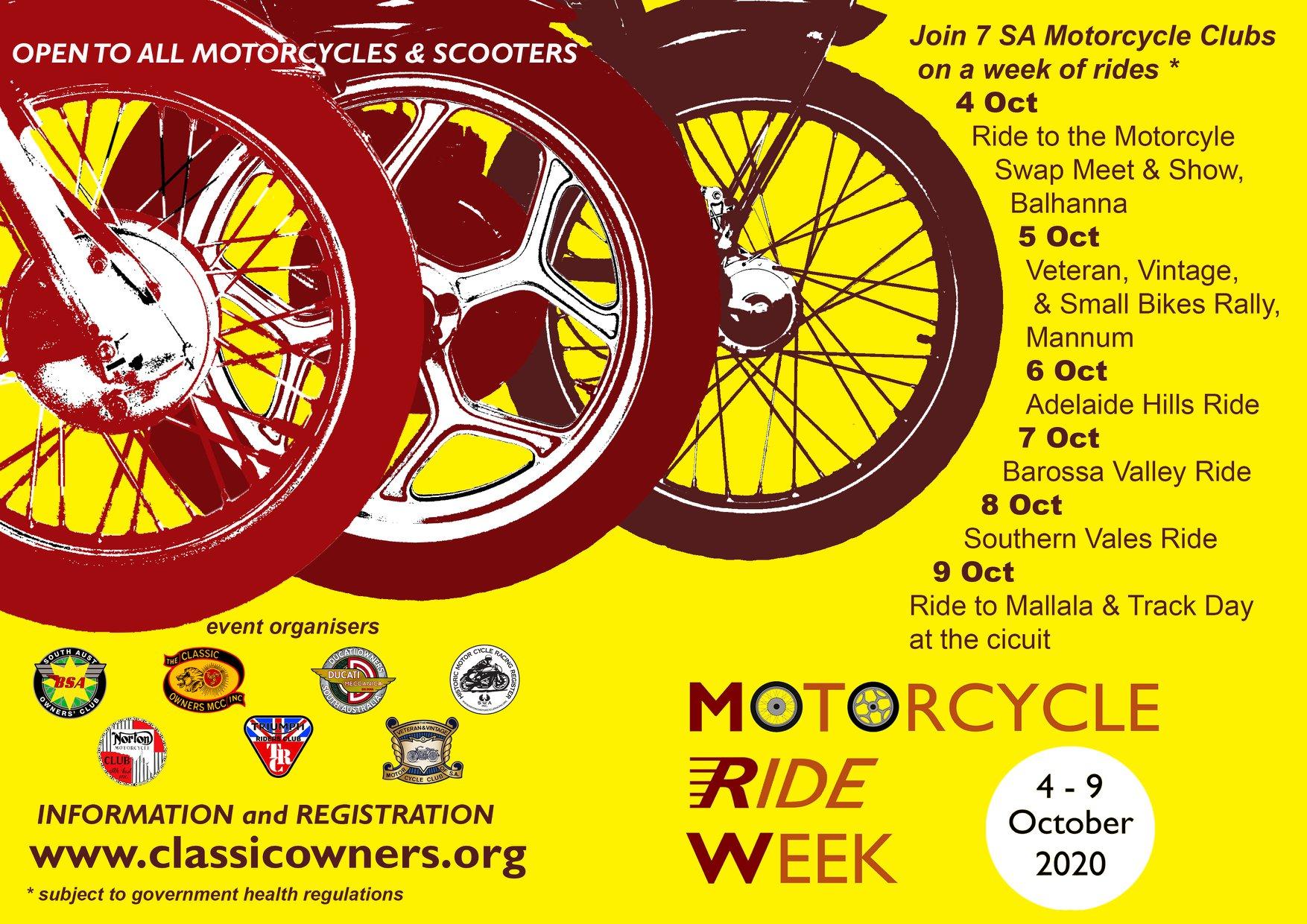 Motorcycle Ride Week 2020
