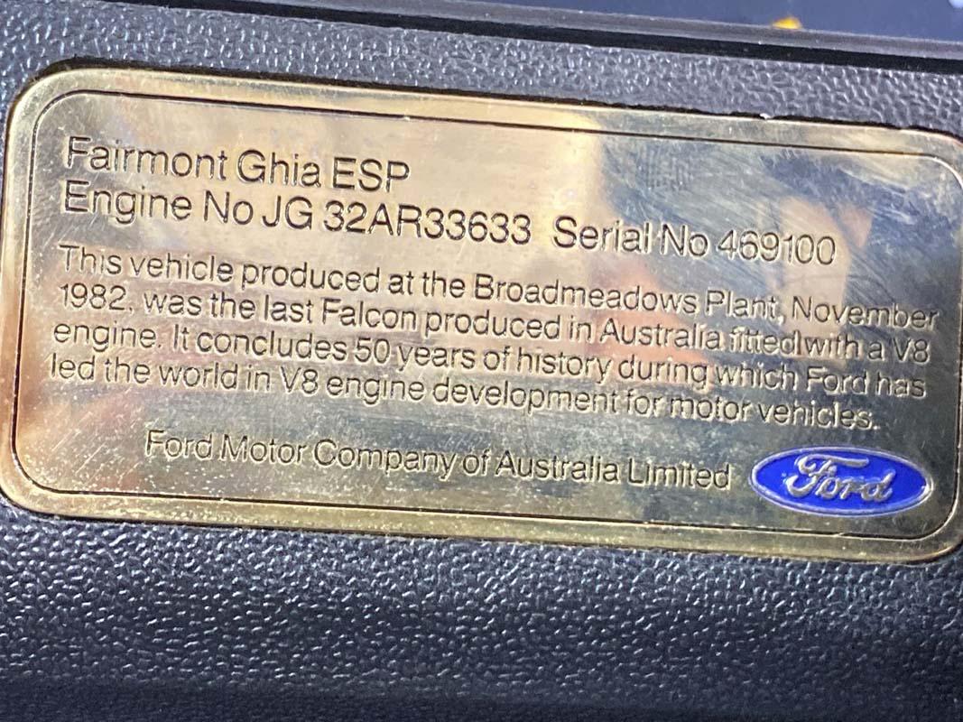 'Last V8' Fairmont Ghia ESP auctioned for $355,000