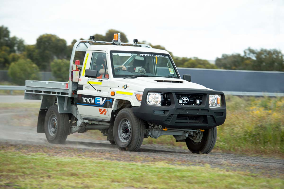 LandCruiser 70 Series in electric pilot trial