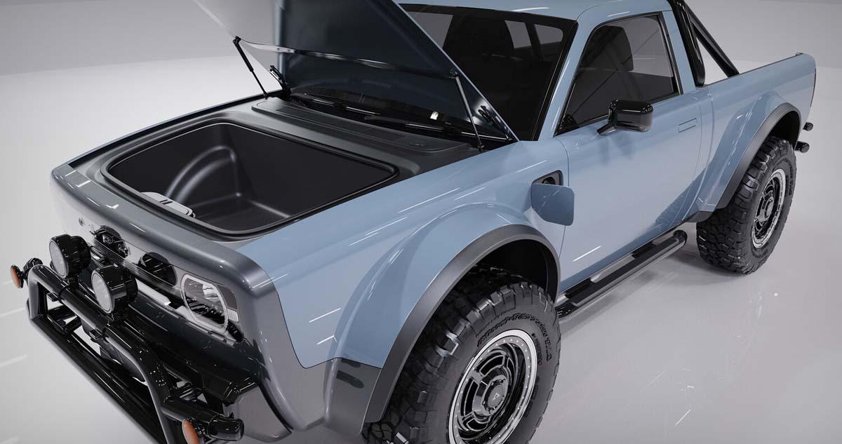 Alpha Motor Co. presents 'Wolf' retro electric ute