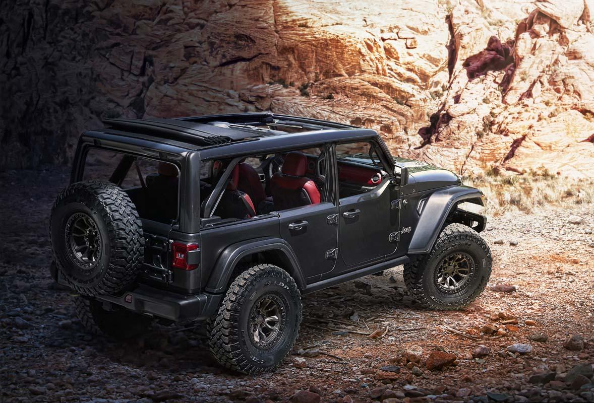 Jeep reveals V8-powered Wrangler Rubicon 392 Concept
