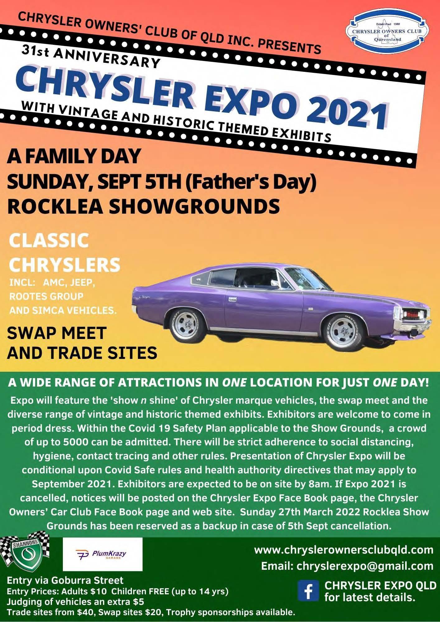 2021 Chrysler Expo