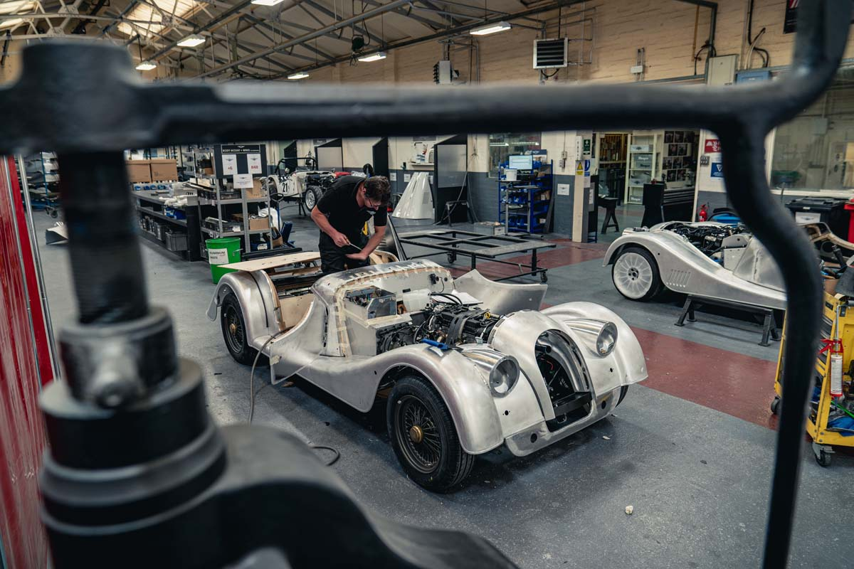 Morgan build last steel chassis car