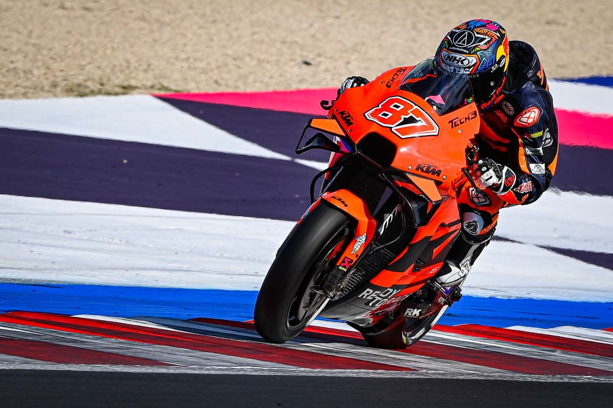 Gardner gets first taste of MotoGP
